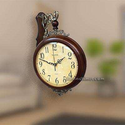 ساعت دیواری دو طرفه والتر چوبی