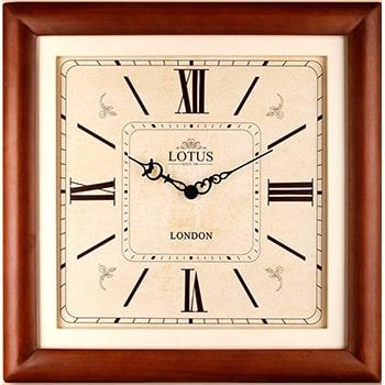 ساعت دیواری چوبی مربع لوتوس مدل SUNVALLEY W-S391