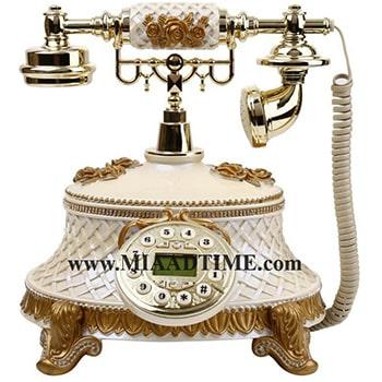 تلفن رومیزی سلطنتی آرنوس رنگ کرم روشن مدل 920