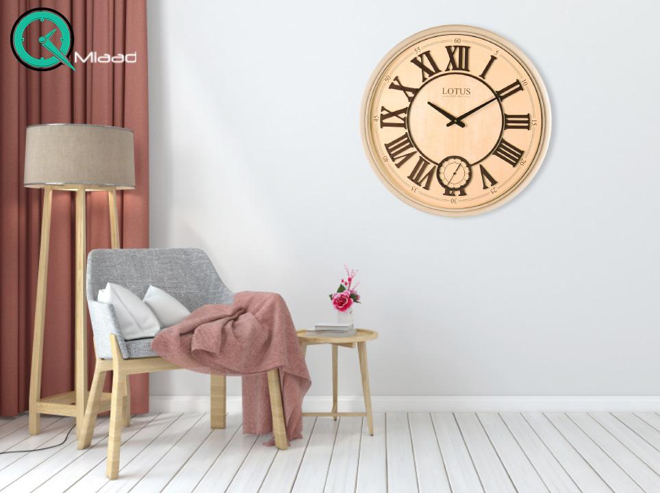 ساعت دیواری چوبی کلاسیک