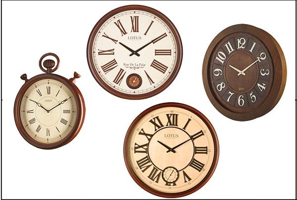 ساعت دیواری چوبی لوتوس
