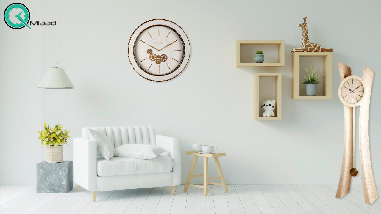 ساعت ایستاده چوبی مدرن
